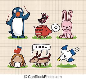 main, dessiner, animal