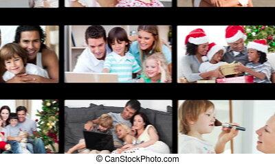 main, famille, traîner, vidéos