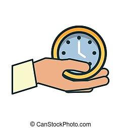 main horloge, temps