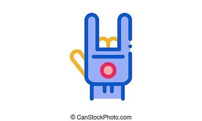 main, icône, geste, animation