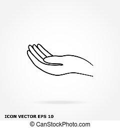 main, icône