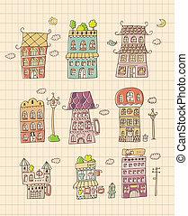 main, maison, dessiner