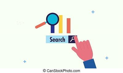 main, optimization, moteur recherche, loupe