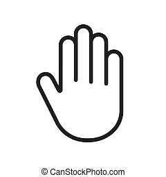 main, paume, humain, icône