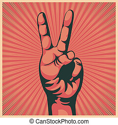 main, signe victoire