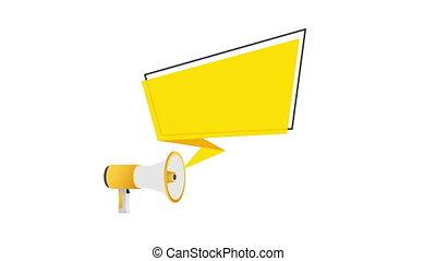 main, texte, team., notre, concept, joindre, illustration., business, porte voix