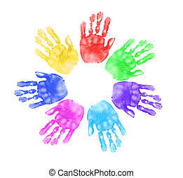 mains, écoliers