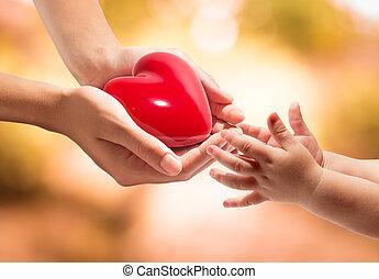 mains, coeur, vie, ton, -