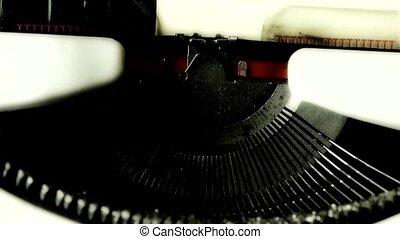 mains, dactylographie, machine écrire