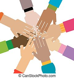 mains, diversité, ensemble