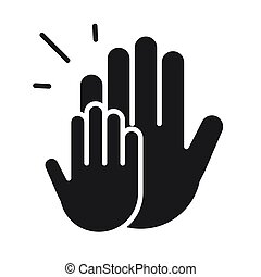mains, donation, volontaire, style, aide, charité, silhouette, social, icône