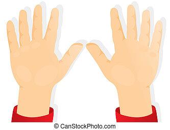 mains, enfants, en avant!, paumes