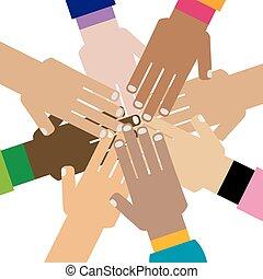 mains ensemble, diversité