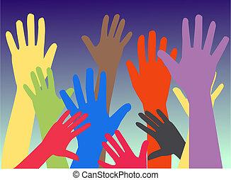 mains humaines