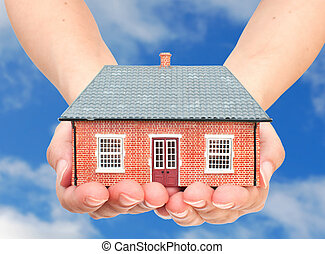 mains, maison
