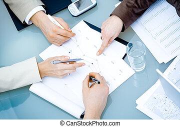 mains, réunion, business