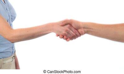 mains secouer, deux