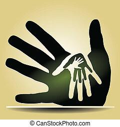 mains, soucier