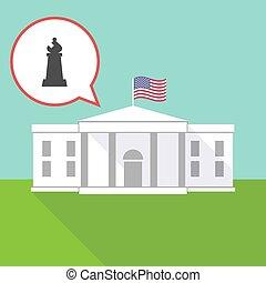 maison, échecs, évêque, blanc, figure