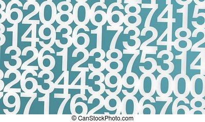 maison, blanc, nombres, hd