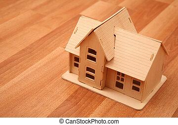 maison bois, modèle, foor