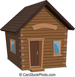 maison, bois, style de vie