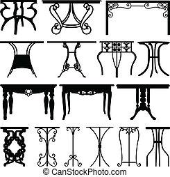 maison, bureau, meubles, conception, table
