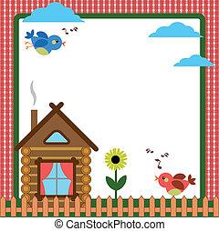 maison, cadre, -background