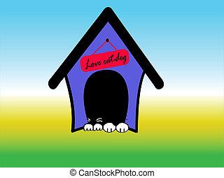 maison, cat-dog