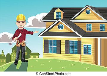 maison, constructeur