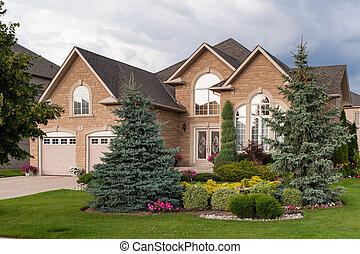 maison, coutume, luxe, construit