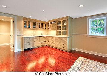maison, cuisine, luxe, sous-sol