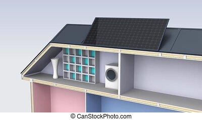 maison, démonstration, intelligent