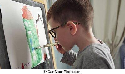maison, dessin, enfant
