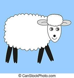 maison, doux, lamb.