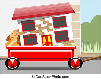 maison, en mouvement