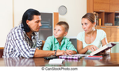 maison, famille, devoirs