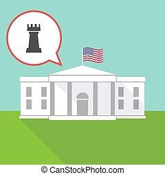 maison, figure, échecs, freux, blanc
