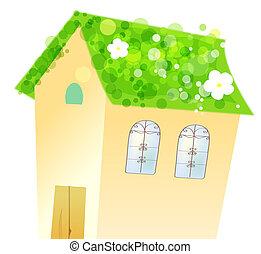 maison, fleur