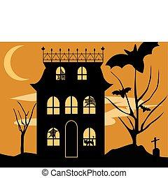 maison, halloween