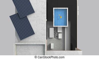 maison, intelligent, téléphone