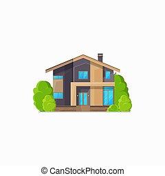 maison, isolé, bâtiment, hôtel, petite maison, résidentiel