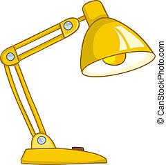maison, lampe, dessin animé