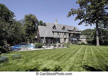maison, luxe, piscine