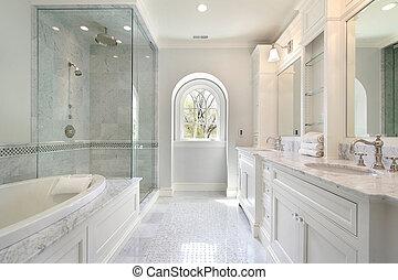 maison, maître, luxe, bain