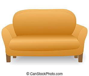 maison, moderne, confortable, sofa