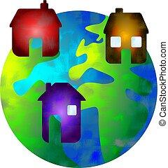 maison, mondiale