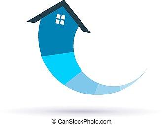 maison, niveaux, circulaire