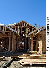 maison, nouveau, construction, sous