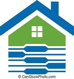 maison, obtenu, image, logo